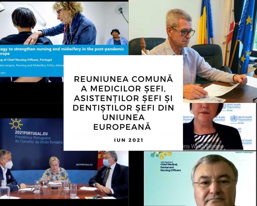 Read more about the article Investiția în asistenții medicali pe agenda Reuniunii Comune a medicilor șefi, asistenților șefi și dentiștilor șefi din Uniunea Europeană